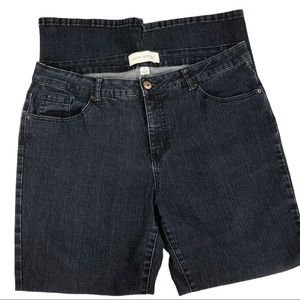 Pure Energy Black Straight Leg Jeans Size 18W